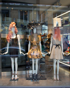 Charlie Does Colette windows for Haute Couture week!