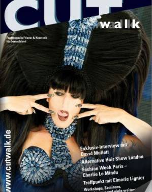 Charlie Le Mindu on cover of CUTWALK MAGAZINE
