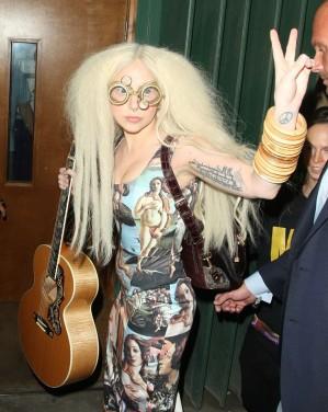 Gaga wears Charlie Le Mindu Glasses