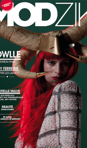 OWLLE wears Charlie Le Mindu on cover of MODZIK
